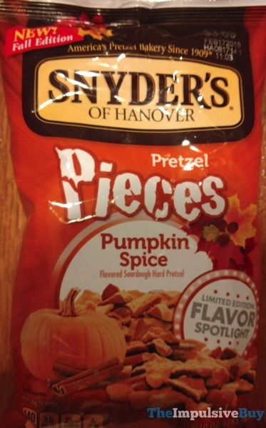Snyder s of Hanover Limited Edition Pumpkin Spice Pretzel Pieces