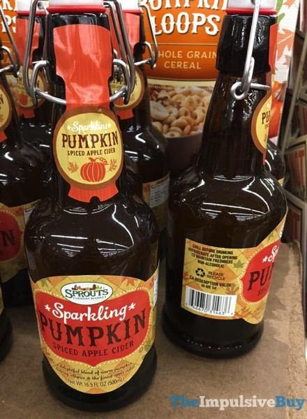 Sprouts Sparkling Pumpkin Spiced Apple Cider  2017