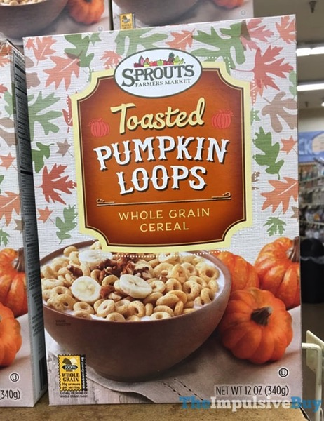 Sprouts Toasted Pumpkin Loops Whole Grain Cereal  2017