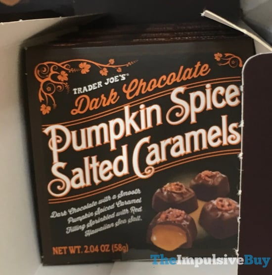 Trader Joe s Dark Chocolate Pumpkin Spice Salted Caramels