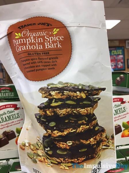 Trader Joe s Organic Pumpkin Spice Granola Bark  2017