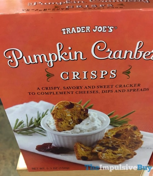 Trader Joe s Pumpkin Cranberry Crisps  2017