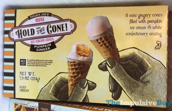 Trader Joe s Pumpkin Ginger Mini Hold the Cone Ice Cream Cones