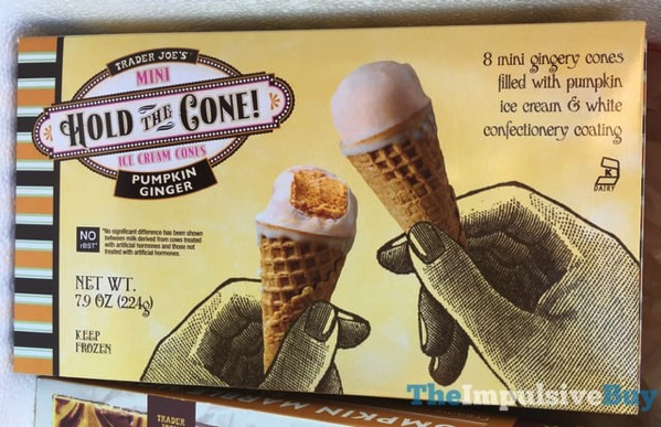 Trader Joe s Pumpkin Ginger Mini Hold the Cone Ice Cream Cones