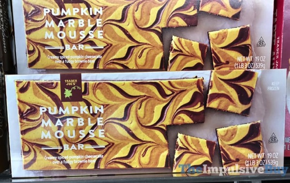 Trader Joe s Pumpkin Marble Mousse Bar