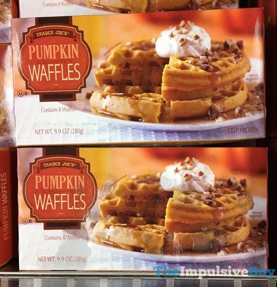Trader Joe s Pumpkin Waffles  2017