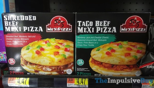 505 Southwestern Mexi Pizzas  Shredded Beef and Taco Beef