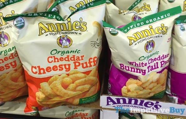 Annie s Organic Cheddar Cheesy Puffs and White Cheddar Bunny Tail Puffs
