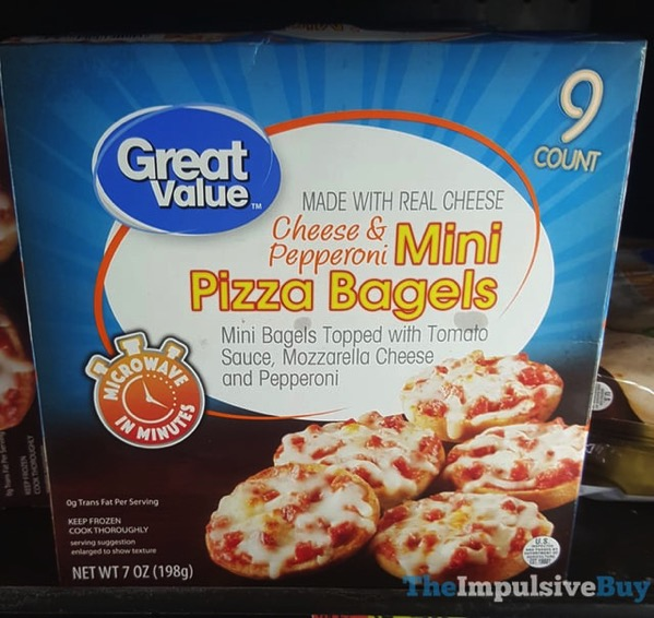 Great Value Cheese  Pepperoni Mini Pizza Bagels