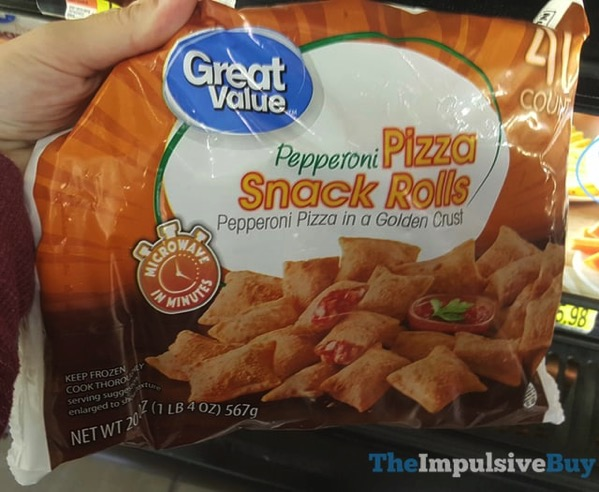 Great Value Pepperoni Pizza Snack Rolls