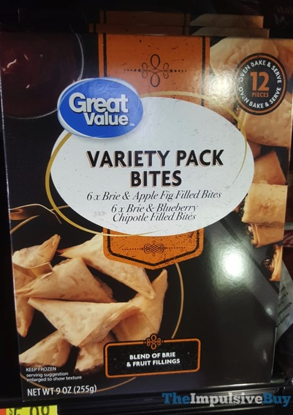 Great Value Variety Pack Bites  Brie  Apple Fig and Brie  Blueberry Chipotle