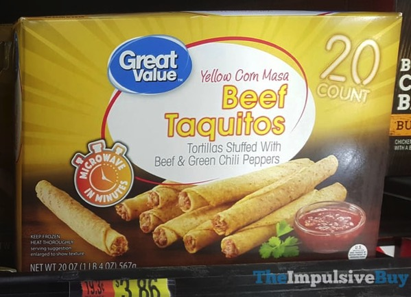Great Value Yellow Corn Masa Beef Taquitos