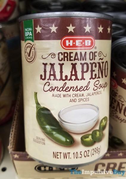 H E B Cream of Jalapeno Condensed Soup