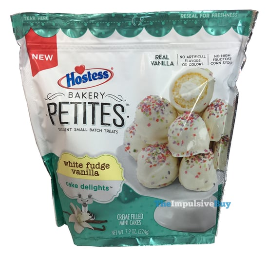Hostess Bakery Petites White Fudge Vanilla Cake Delights