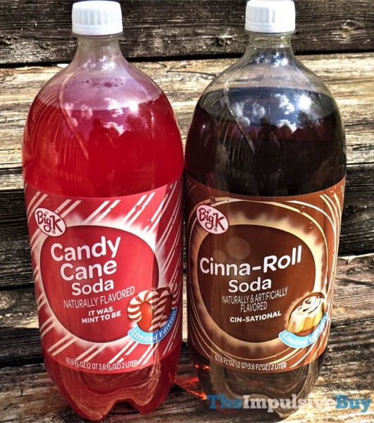 REVIEW: Kroger Big K Candy Cane Soda and Cinna-Roll Soda