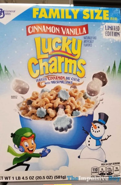 Limited Edition Cinnamon Vanilla Lucky Charms Cereal