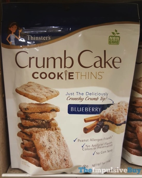 Mrs Thinsters Blueberry Crumb Cake Cookie Thins