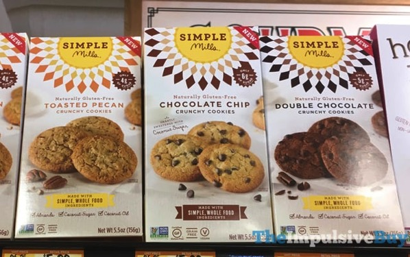 Simple Mills Crunchy Cookies  Toasted Pecan Chocolate Chip and Double Chocolate