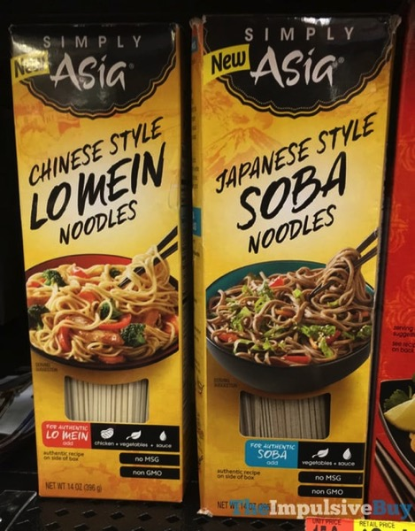 Simply Asia Chinese Style Lo Mein Noodles and Japanese Style Soba Noodles
