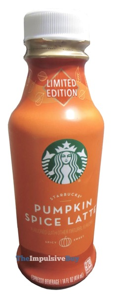 Starbucks Pumpkin Spice Latte  Bottled