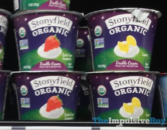 Stonyfield Organic Double Cream Yogurt  Pacific Coast Strawberry and Lemon