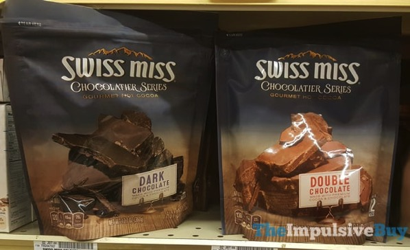 Swiss Miss Chocolatier Series Gourmet Hot Cocoa  Dark Chocolate and Double Chocolate