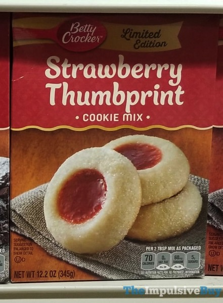Betty Crocker Limited Edition Strawberry Thumbprint Cookie Mix