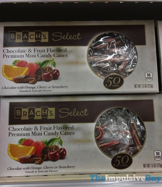 Brach s Select Chocolate  Fruit Flavored Premium Mini Candy Canes