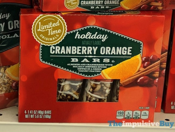 Giant Limited Time Originals Holiday Cranberry Orange Bars