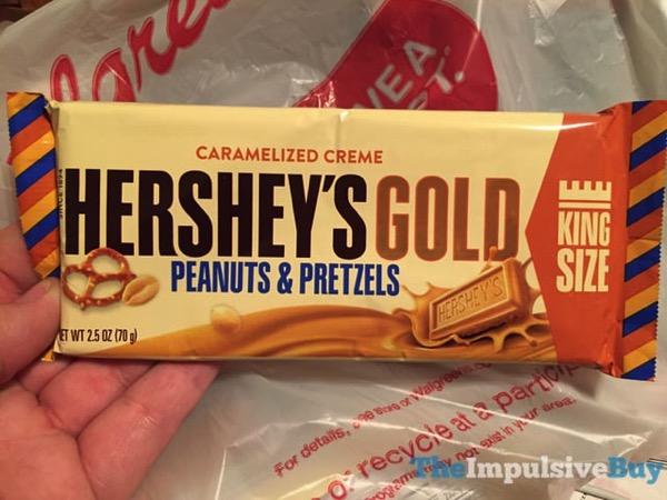 Hershey s Gold Peanuts  Pretzels Bar King Size