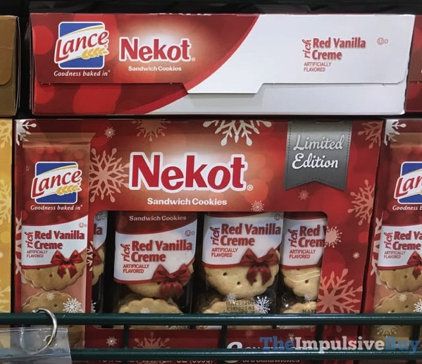 Lance Limited Edition Red Vanilla Creme Nekot Sandwich Cookies