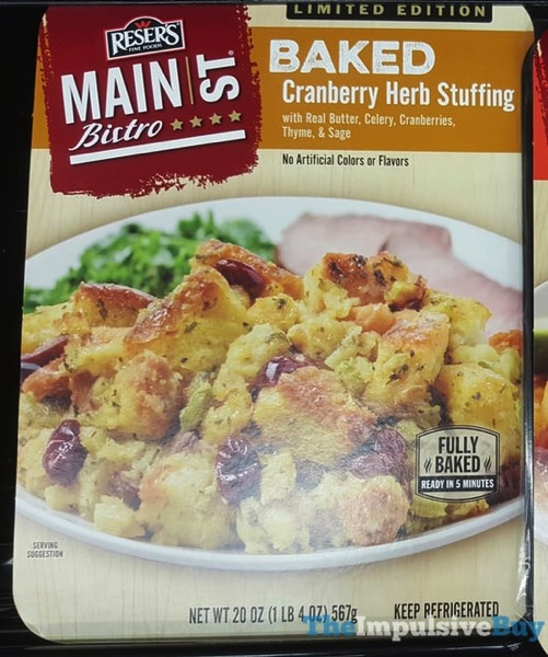 Reser s Main St Bistro Limited Edition Baked Cranberry Herb Stuffing
