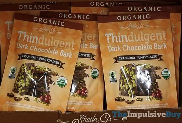 Sheila G s Organic Cranberry Pumpkin Seed Thindulgent Dark Chocolate Bark