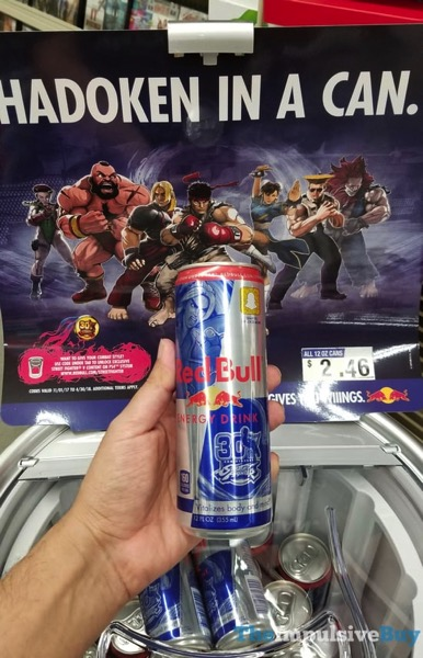 Street Fighter 30th Anniversary Red Bull Energy Drink 2
