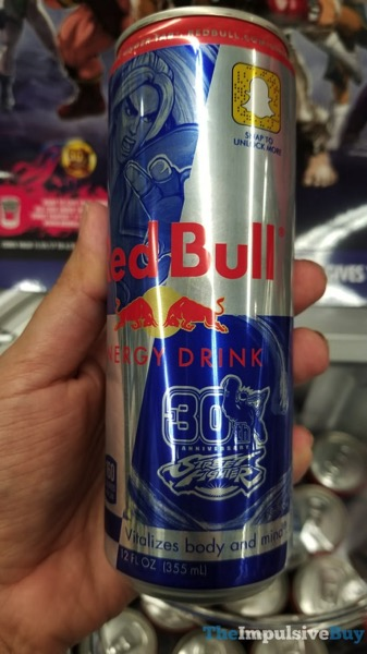 Street Fighter 30th Anniversary Red Bull Energy Drink