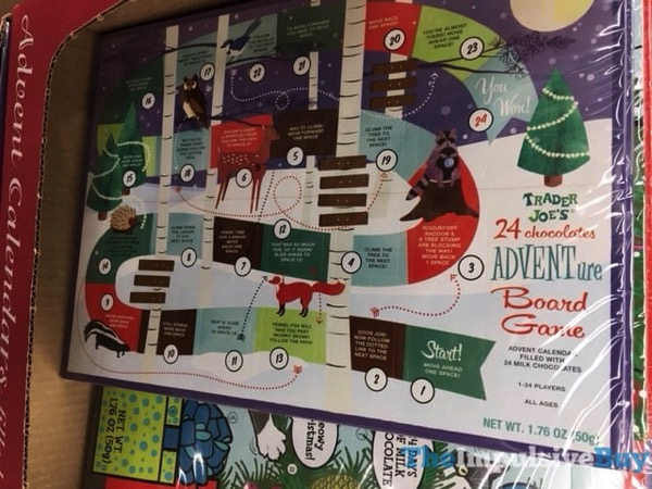 Trader Joe s 24 Chocolates ADVENTure Board Game