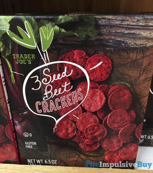 Trader Joe s 3 Seed Beet Crackers