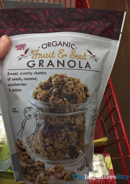 Trader Joe s Organic Fruit  Seed Granola