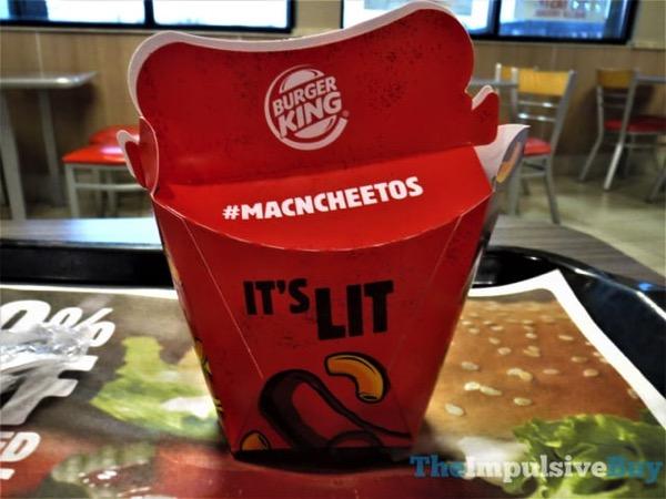 Burger King Flamin Hot Mac n Cheetos 2