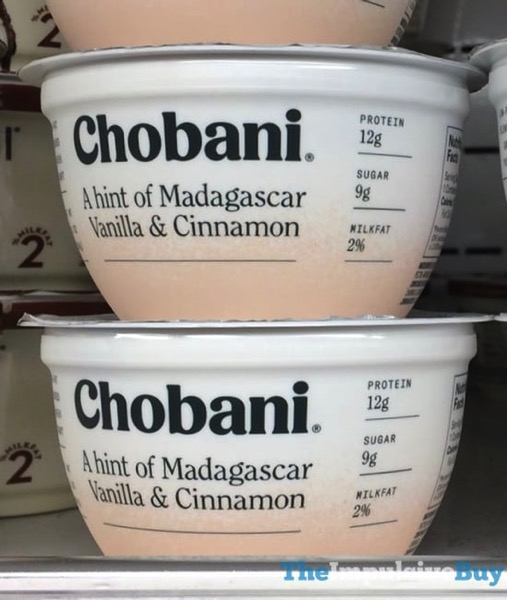 Chobani A Hint of Madagascar Vanilla  Cinnamon Greek Yogurt