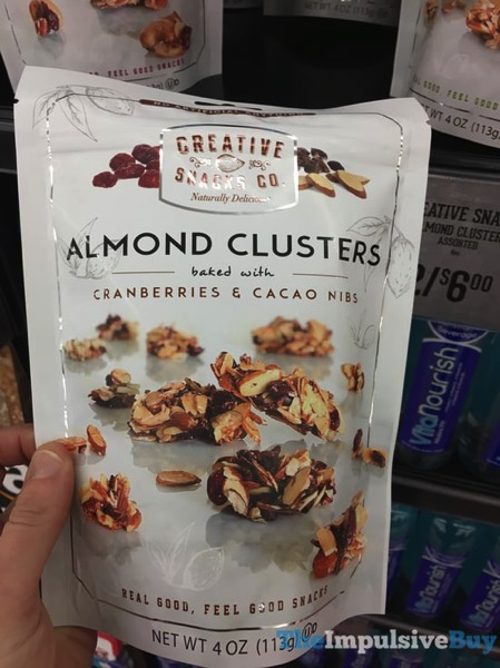 Creative Snacks Co Almond Clusters Baked with Cranberries  Cacao Nibs