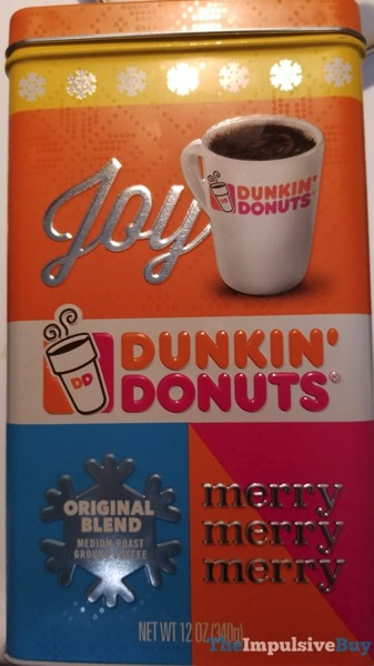 Dunkin Donuts Original Blend Holiday Tin