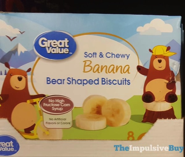 Great Value Soft  Chewy Banana Bear Shaped Biscuits