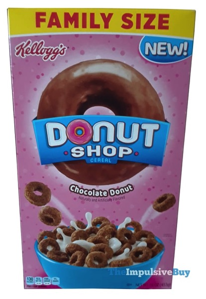 Kellogg s Donut Shop Cereal Chocolate Donut