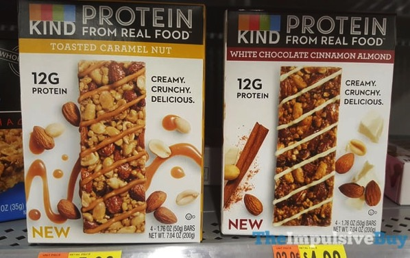 Kind Protein Bars  Toasted Caramel Nut and White Chocolate Cinnamon Almond