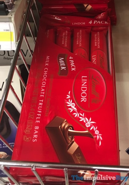 Lindt Lindor Milk Chocolate Truffle Bars 4 Pack