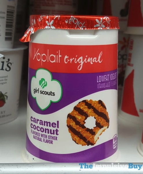 Yoplait Original Girl Scouts Caramel Coconut Yogurt