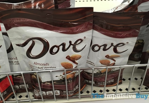 Dove Almonds Dipped in Dark Chocolate and Dusted with Cinnamon