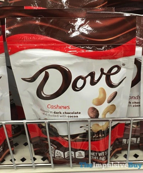 Dove Cashew Dipped in Dark Chocolate and Dusted with Cocoa