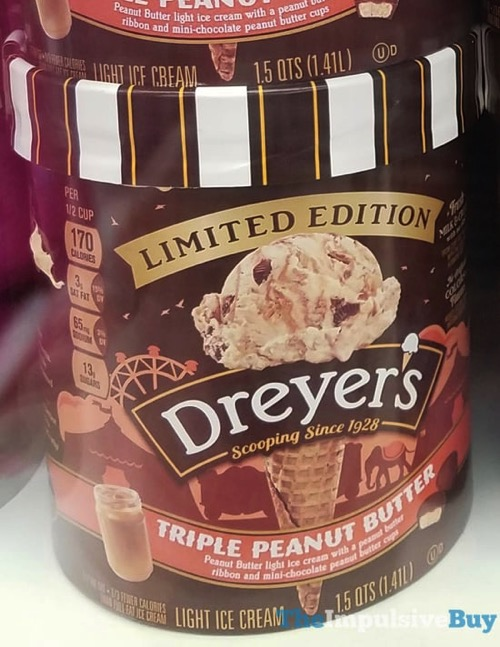 Dreyer s Limited Edition Triple Peanut Butter Light Ice Cream
